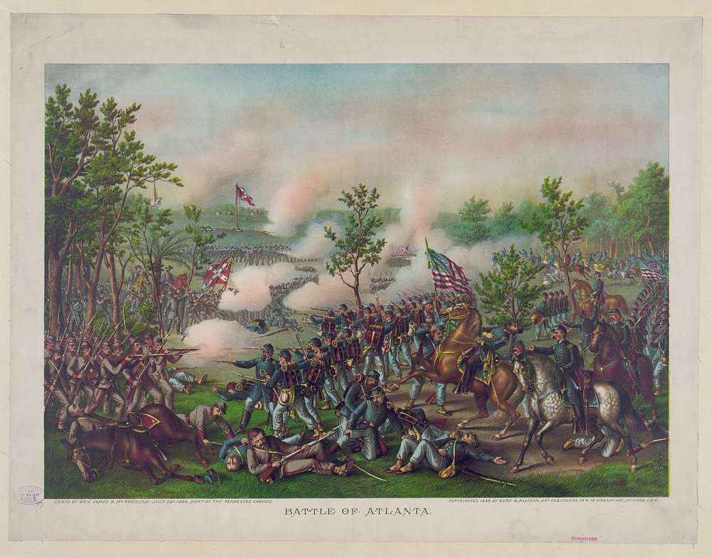 Battle of Atlanta by Kurz & Allison, ca. 1888. Courtesy of the Library of Congress.
