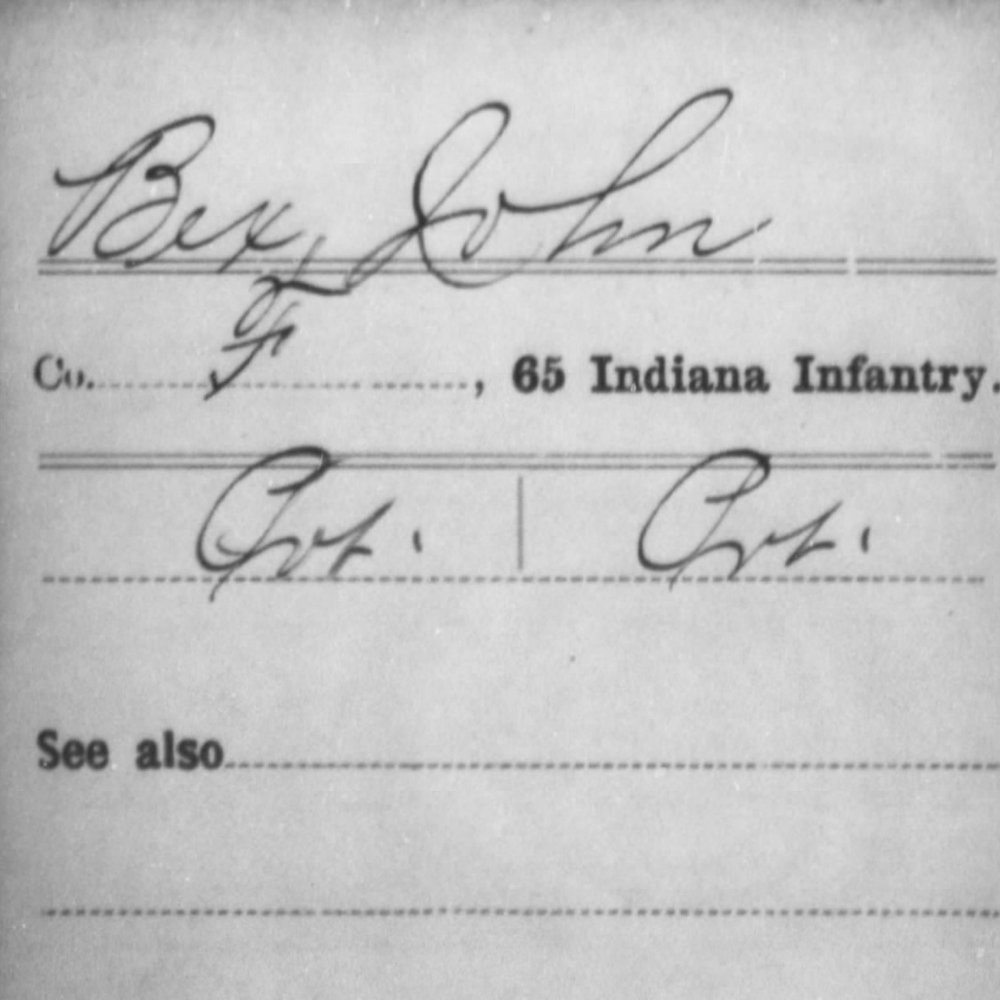 Pvt. John Bex, Co. F, 65th IN Infantry, USA