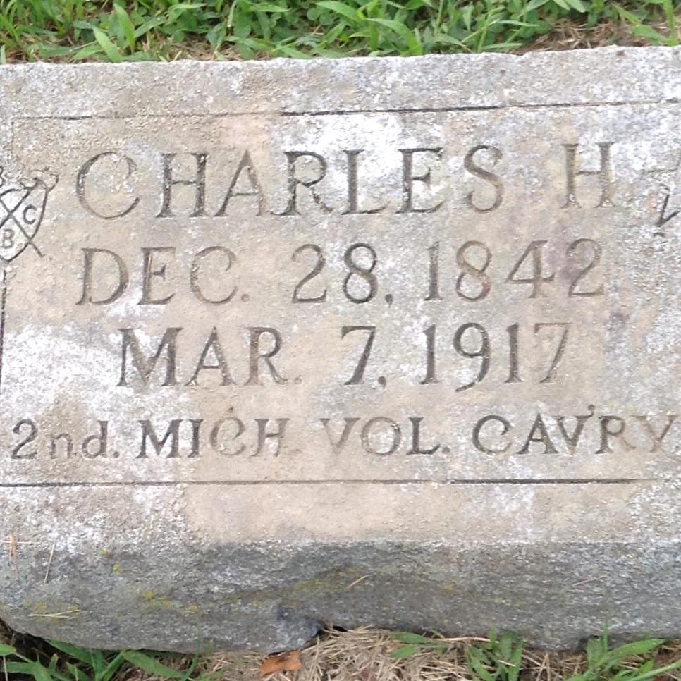 Pvt. Charles H. Olmstead, Co. H, 2 MI Cavalry, USA
