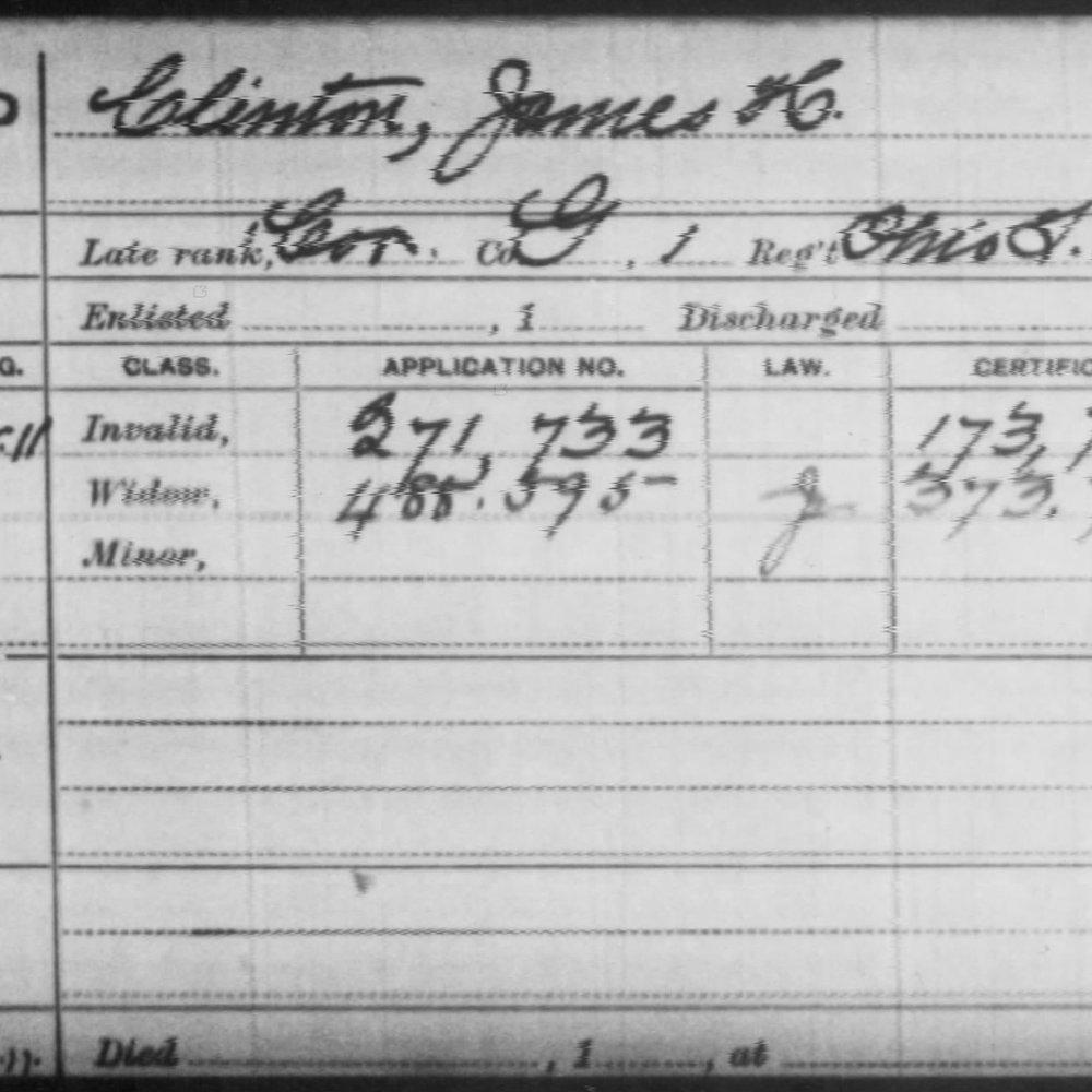 Cpl. James Clinton, Battery G, 1st OH Light Artillery, USA