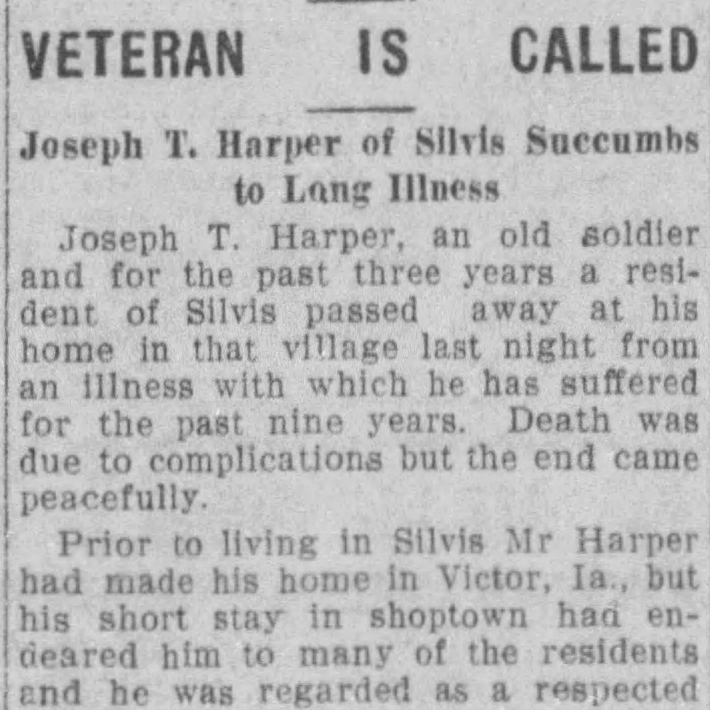 Sgt. Joseph Harper, Co. H, 2nd IA Cavalry, USA