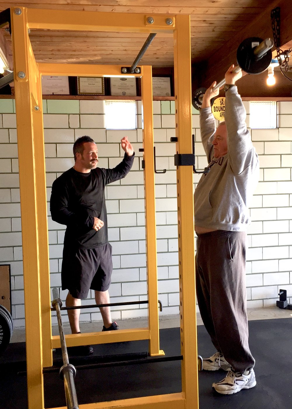 Ed (80 years young) has committed to his strength & health, training with Scott for over nine years.