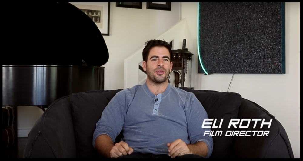 At this point he should be credited:  Eli Roth , professional documentary guest.