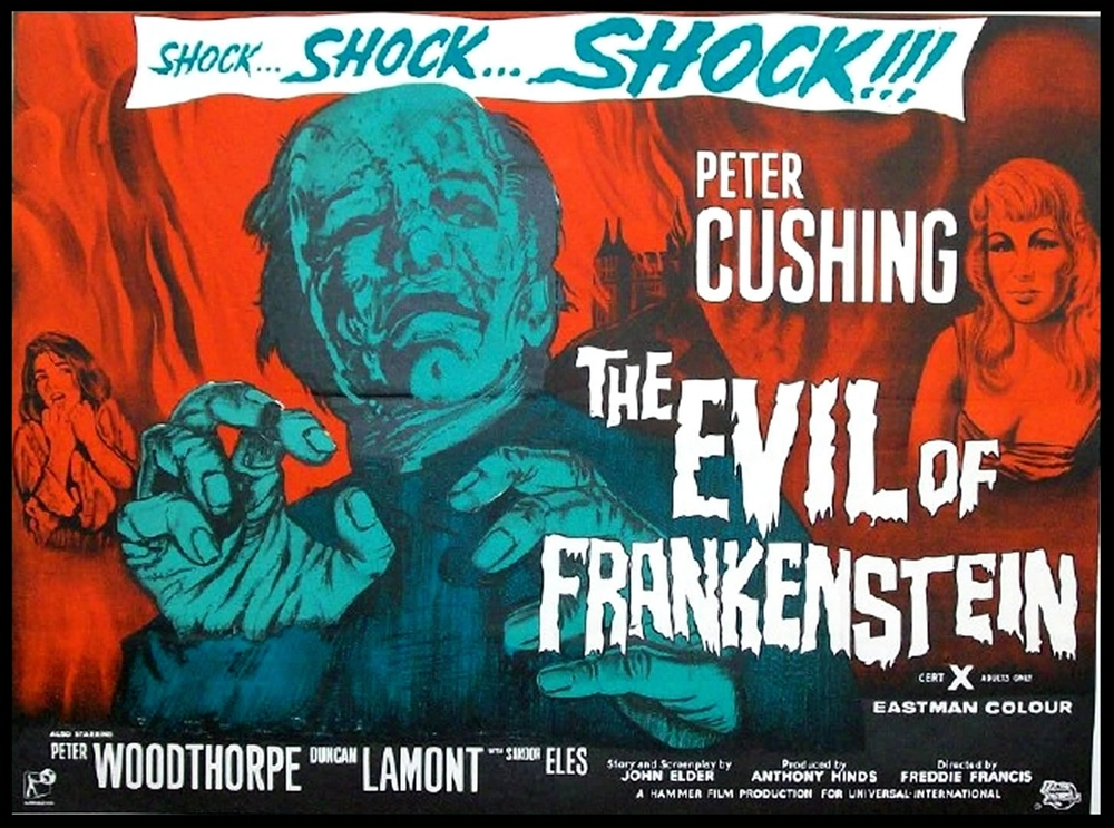 The Evil Of Frankenstein Poster