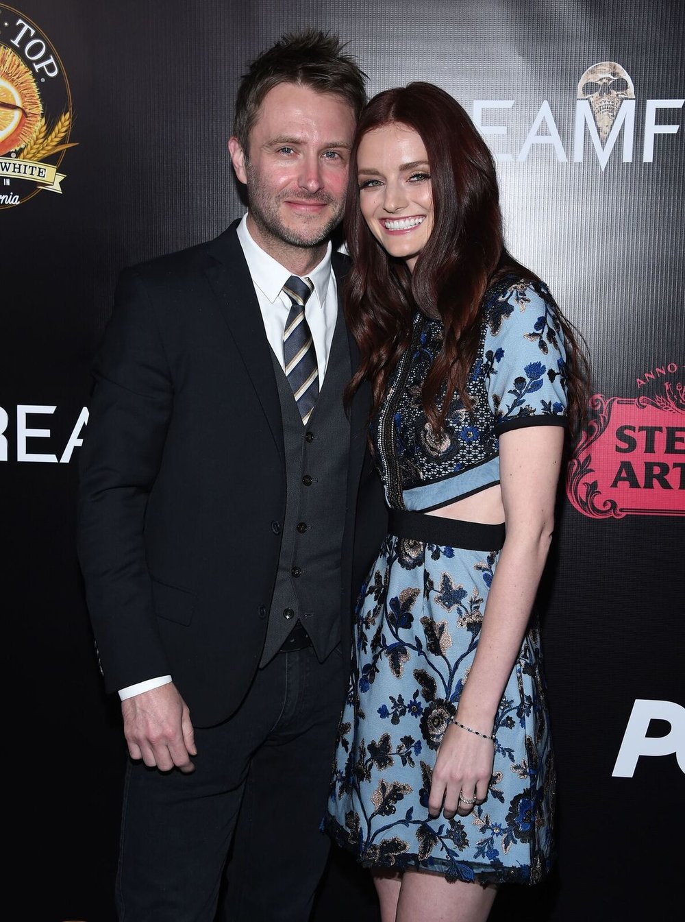 (L-R) -  Chris Hardwick  and  Lydia Hearst