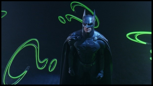 Batman meets neon: it must be the 1990s.
