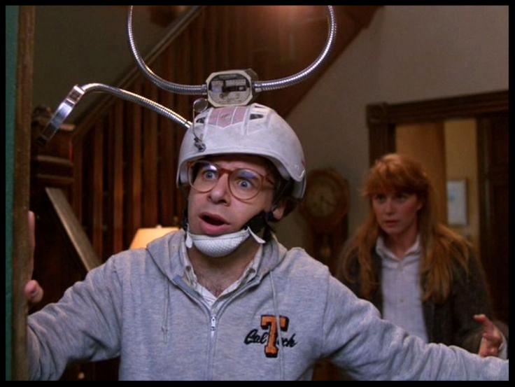 Rick Moranis, never not funny in a helmet. This list easily could've been Moranis' top 5 helmets...