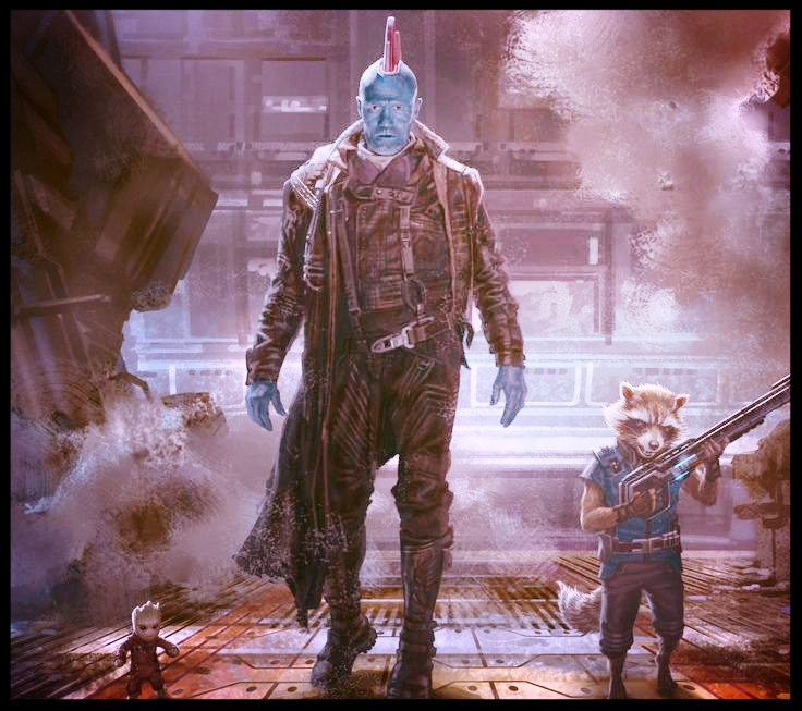 Groot, Yondu and Rocket