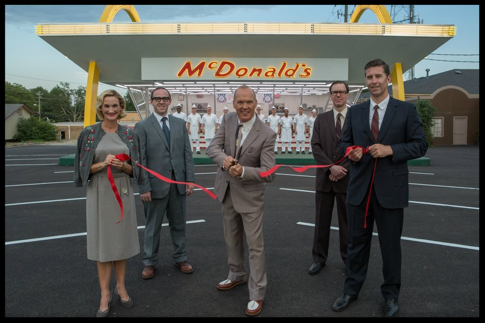 Michael Keaton ribbon cutter The Founder