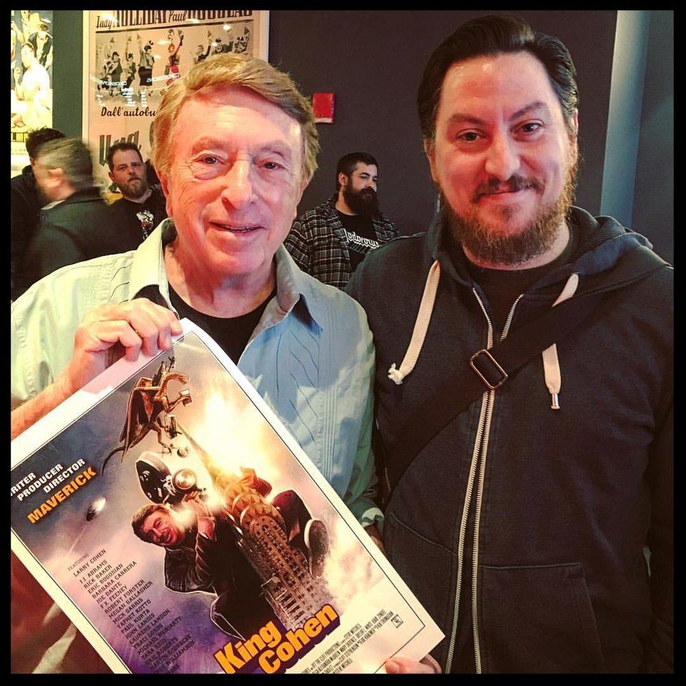 Larry Cohen  and  Jon Cross  in New York 2017