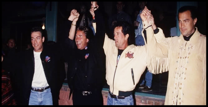 Jean Claude Van Damme ,  Don Johnson ,  Sylvester Stallone  and  Steven Seagal