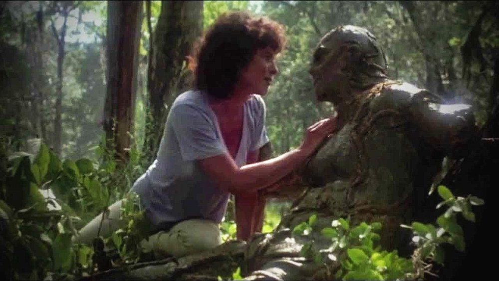 Swamp Thing - Adrienne Barbeau and Dick Durock