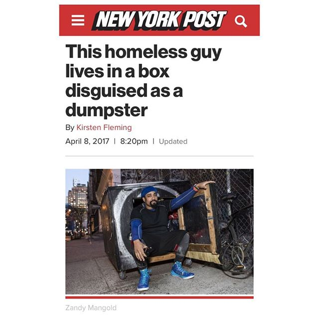 In today's NY post ! A full update on what I AM SUPPORTED is up to #homeless #nyc #getdeanahome #nypost