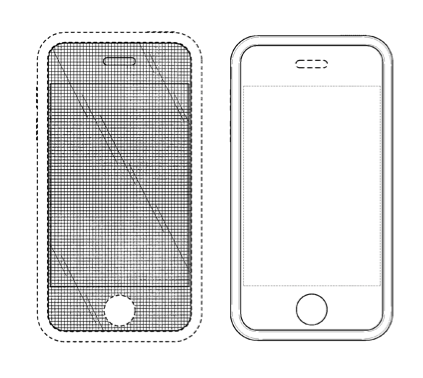 Apple patents 677' (left) and 087' (right)