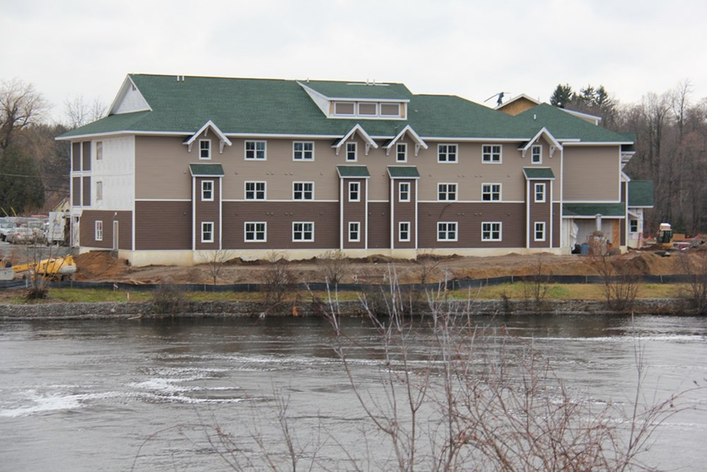 Cambray Terrace sits along the shores of the Oswegatchie River in Gouverneur. Many of the apartments will feature spectacular views of the river. (photos provided)