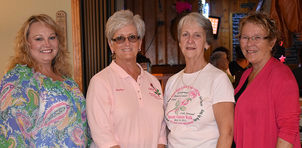 Gouverneur Breast Cancer Fund Committee Members. From left: Terry Pistolesi, Marilyn LaPierre, Judy Bush and Carolyn Pistolesi. (Jessyca Cardinell photo)