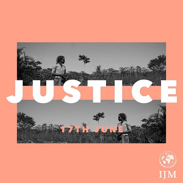 Join us at our 9 & 10:30am services where James Ewins from @ijm will be talking to us on Justice.