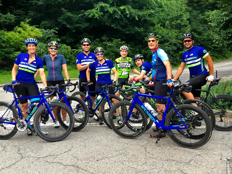 Staff and team riders meet weekly for the Central Park club ride.