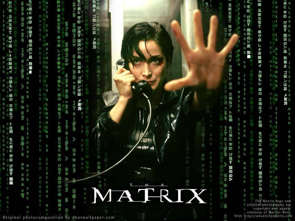 Inspired by Oliver's class on the Trinity where he put up the Trinity from the Matrix as his course picture on Moodle.