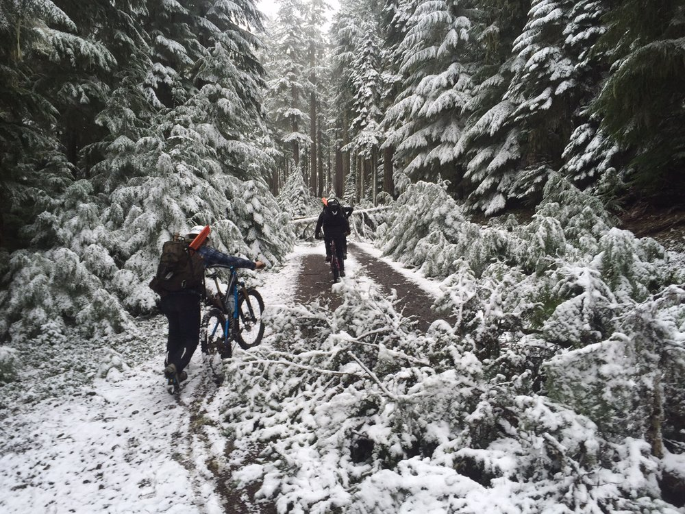 we had to continue on bike after the road became impassable