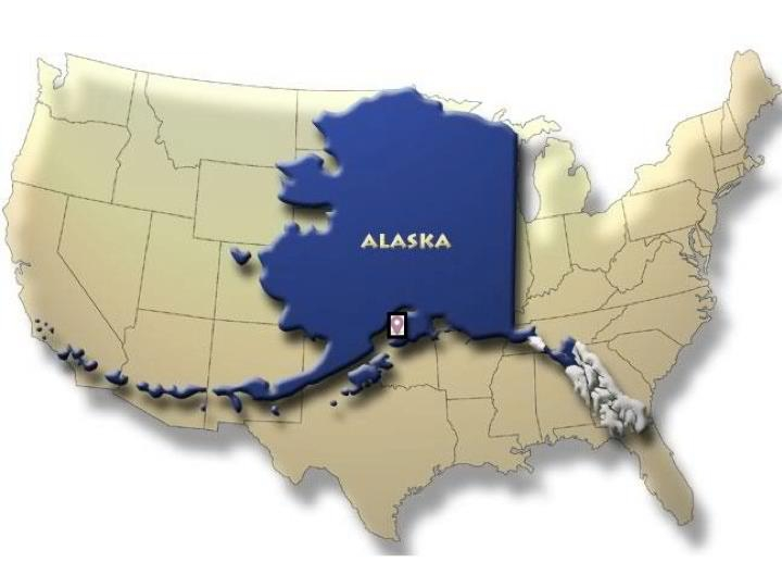 Alaska is a big state. Even if it were to be cut in half, Texas would be the third largest state. Check out more  Alaska Info .