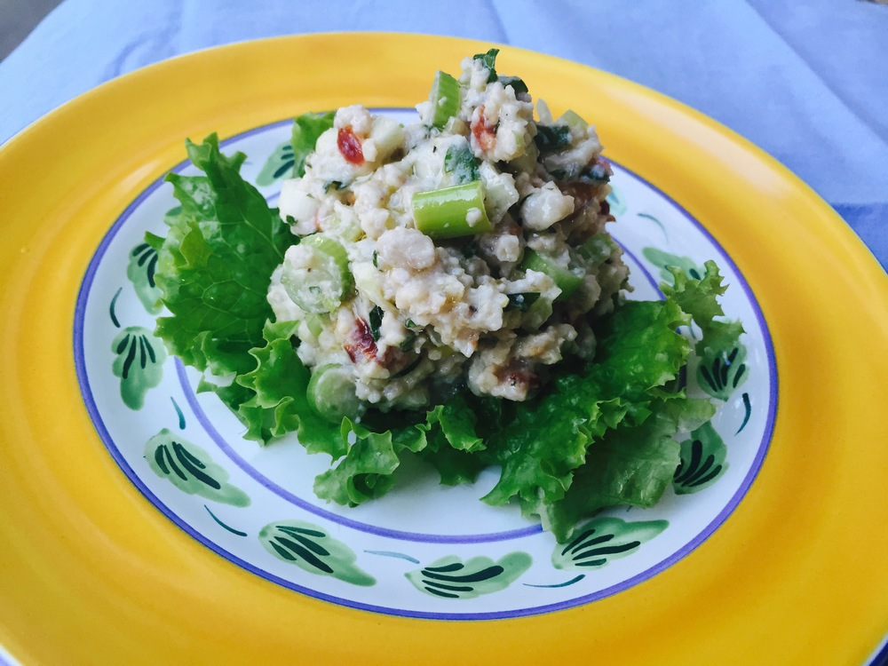 Millet salad with cranberries and scallions