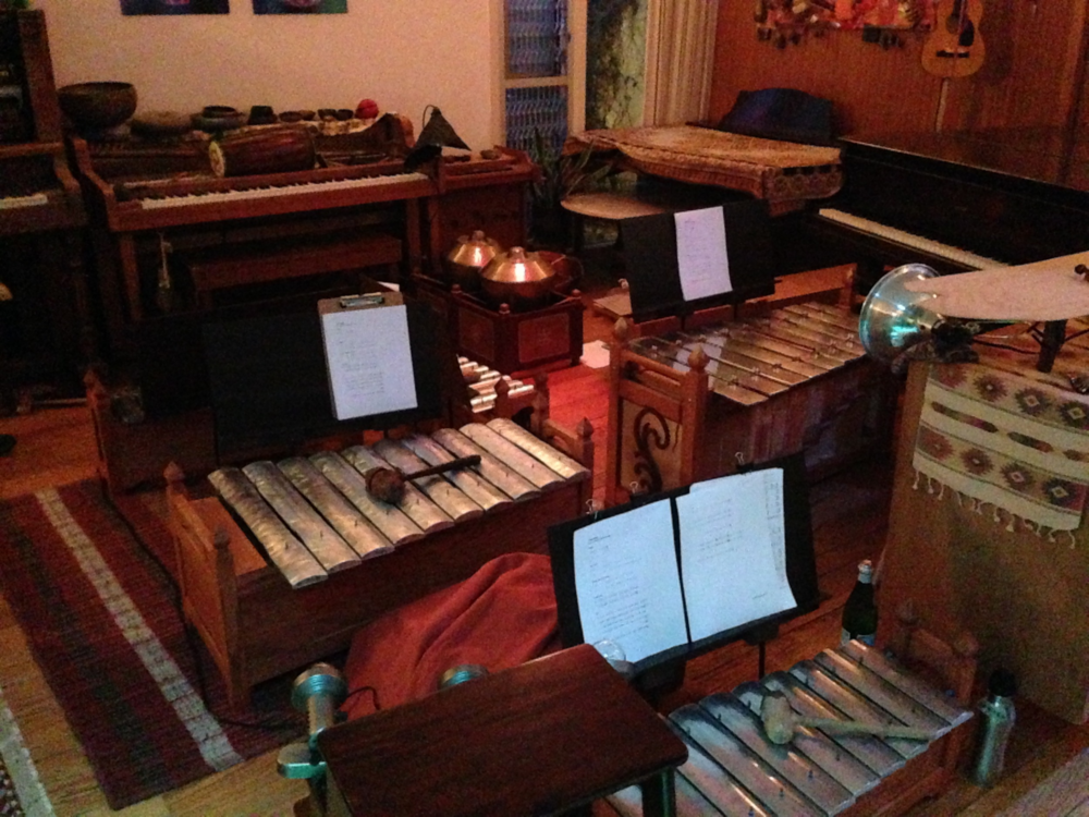 A small setup for a show at the Turquoise Yantra Grotto in San Francisco
