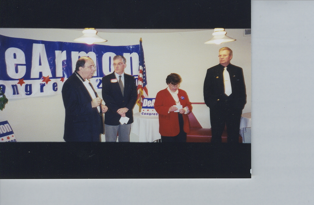 Don with local Allegany County officials and U.S. Senator Barbara Mikulski in 2000.