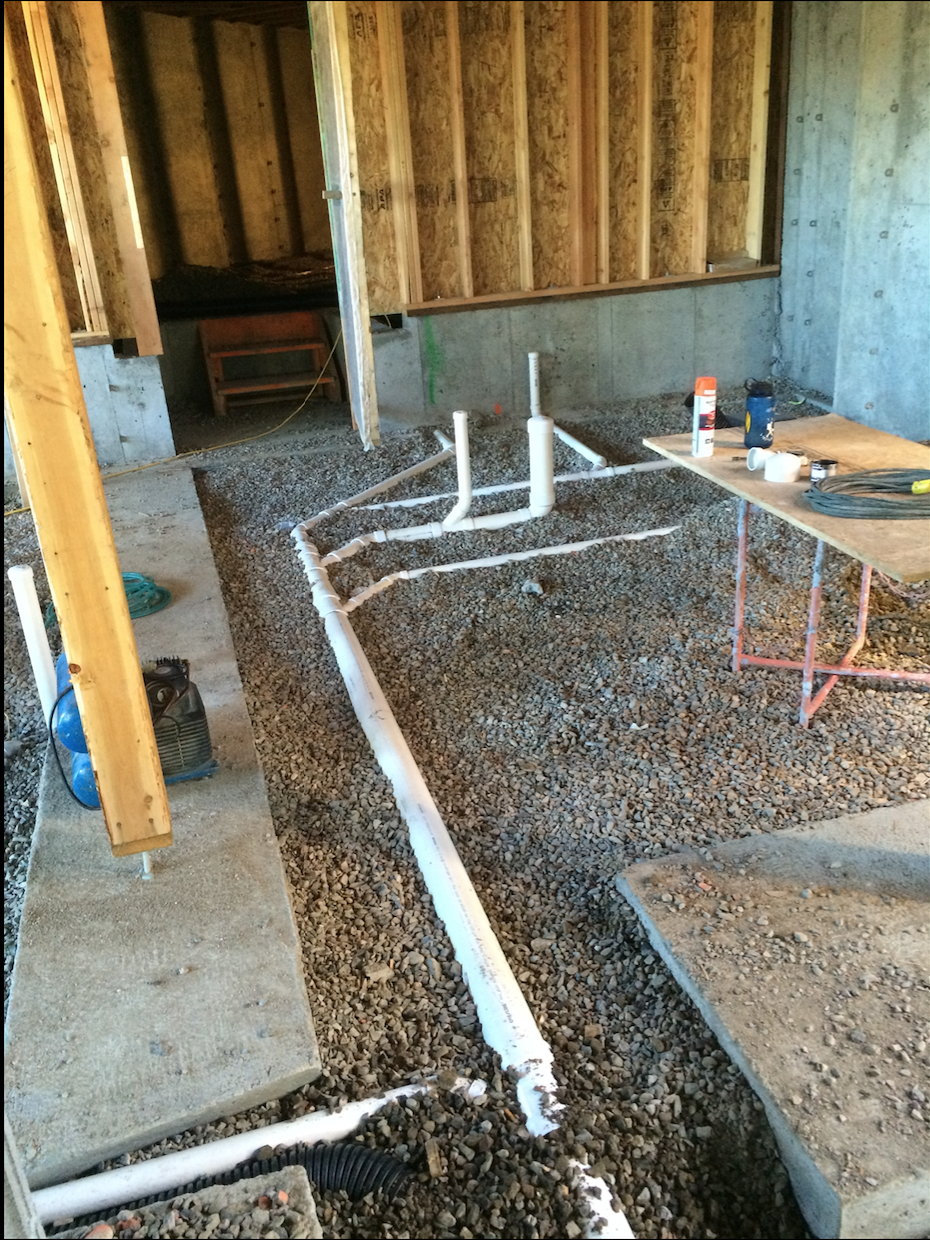 PJ's Plumbing in floor pipe