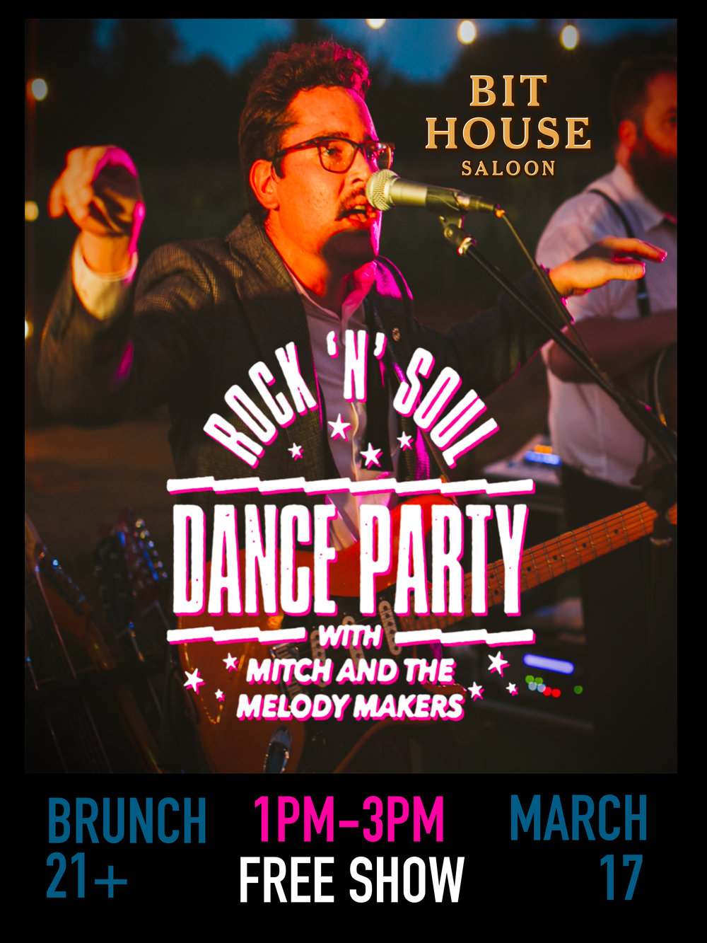Are you ready to dance? Mitch and the Melody Makers bring their Rock 'N' Soul Dance Party to the Bithouse Saloon for a Soul Brunch. Made up of members of some of Portland's best new bands, the Makers bring rock and soul dance hits from the 50's, 60's, and more that get every person out of their seats on onto the dance floor. Come sip a mimosa and dance!