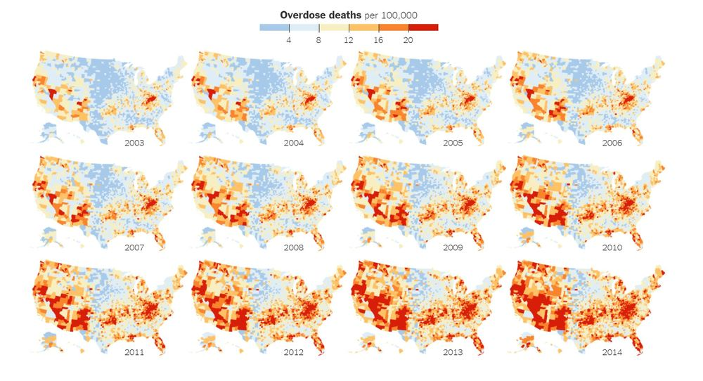 The New York Times- 'How the Epidemic of Drug Overdose Deaths Ripples Across America'- http://www.nytimes.com/interactive/2016/01/07/us/drug-overdose-deaths-in-the-us.html?_r=0