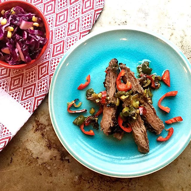 Careful with the red chilies on this one, I mistakenly licked my finger after a slicing them and felt that for about 30 min afterwards!! Spicy Thai skirt steak indeed! Paired with a red cabbage slaw that helps tame the spice, works very well together. #Recipe up on blog shortly. #food #pswaistline #yummy #delicious #instagood #instafood