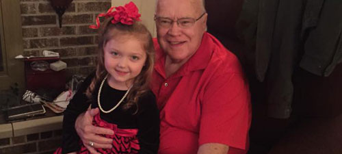 Southside Early Childhood Center student prepares for Father/Daughter dance with her grandpa
