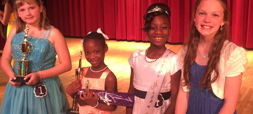 Thornwell School for the Arts had a mother/daughter pageant. Here are some of the younger winners posing together.