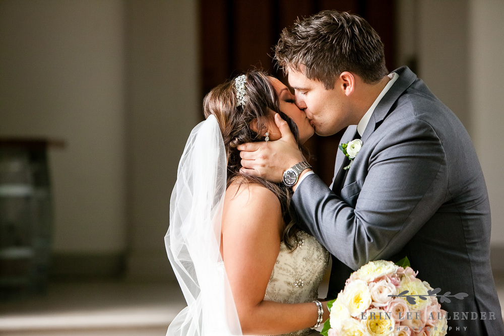 Groom_Kisses_Bride_At_First_Look