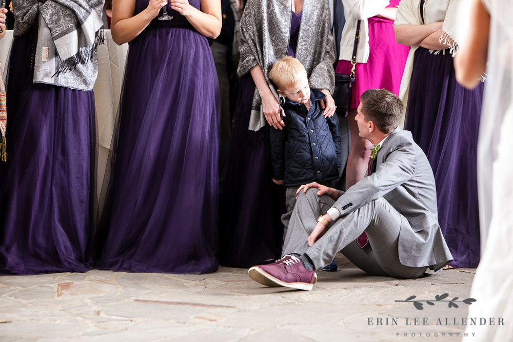 Groomsman_Talks_To_Ring_Bearer