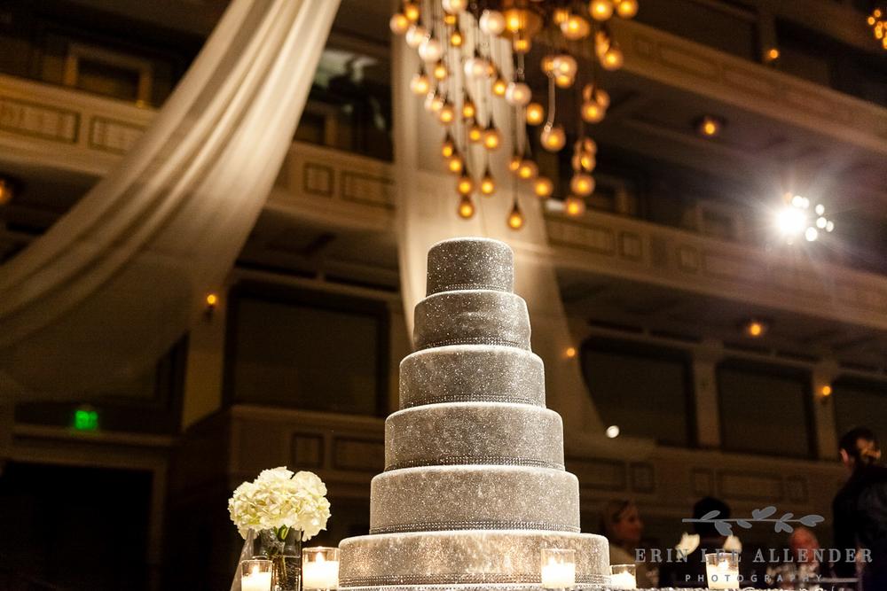 Silver_Glitter_Wedding_Cake