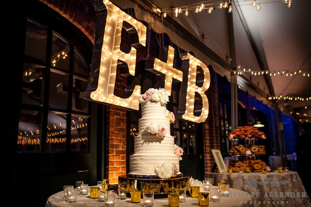 Initial_Marquee_Above_Wedding_Cake