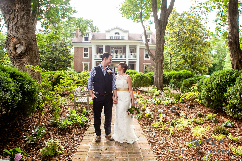 Bride_Groom_In_Front_Historic_Home
