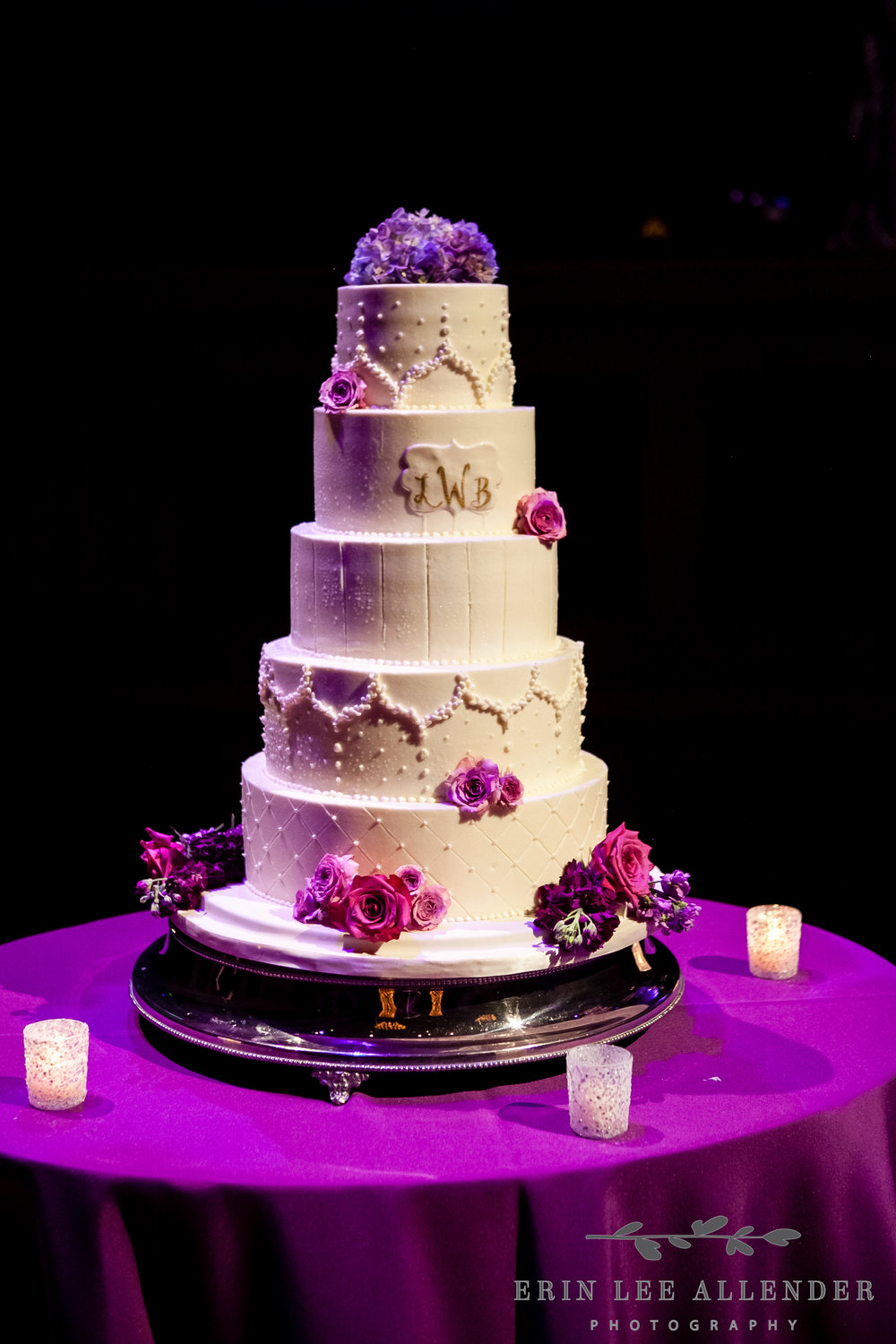 Inital_Buttercream_Wedding_Cake