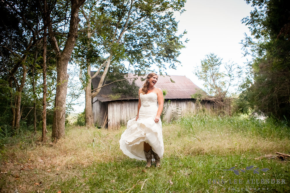 Bride_In_Field_With_Cowboy_Boots