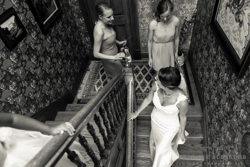 Bride_And_Bridesmaids_Walk_Down_Stairs