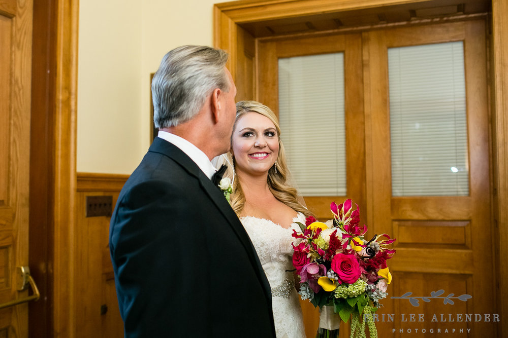 Bride_Looks_at_Dad_Before_Walking_Down_Aisle