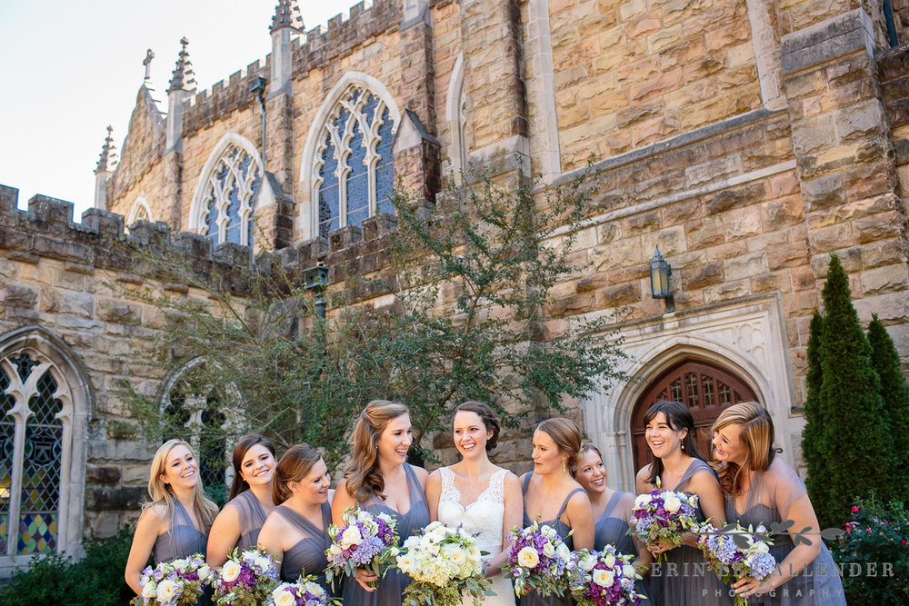 Bridesmaids_Laugh_All_Saints_Chapel