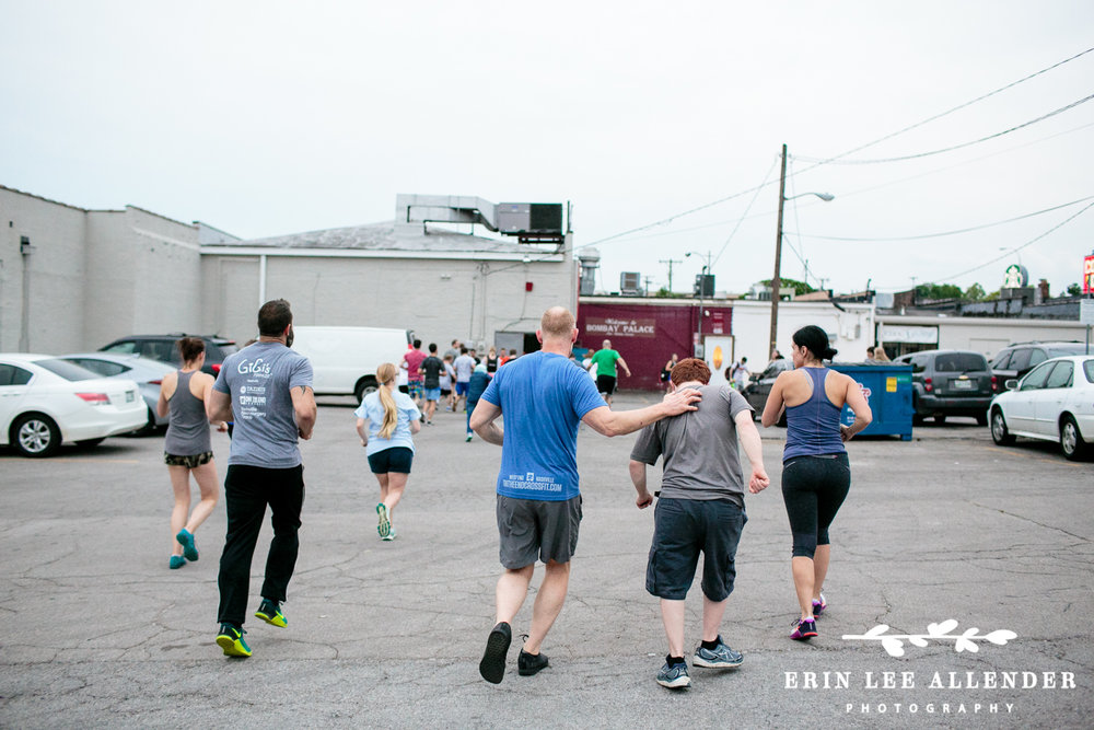 On The End CrossFit partners with Gigi's Playhouse and trains participants to take part in Murph Hero Workout. Photograph by Erin Lee Allender in Nashville, Tennessee.