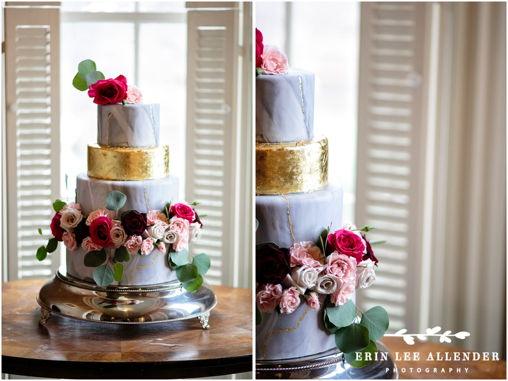 Gold_Foil_Blue_Wedding_Cake