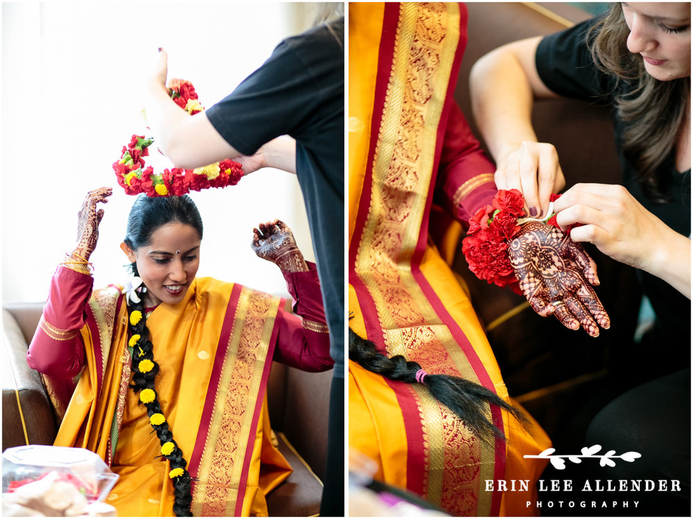 Putting_Flower Crown_On_Indian_Bride