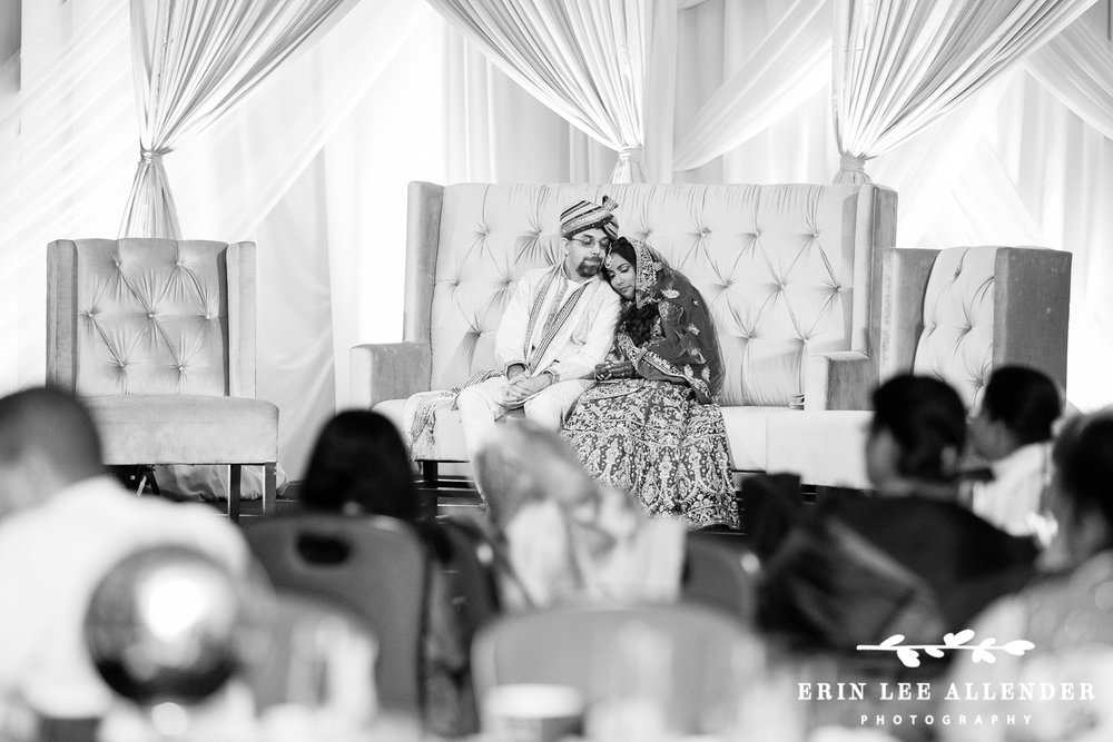 Bride_Groom_Cuddle_During_Indian_Reception