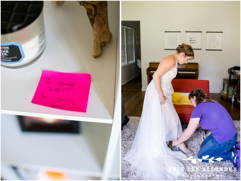 Bride_Leaves_Post-it_Note_For_Groom