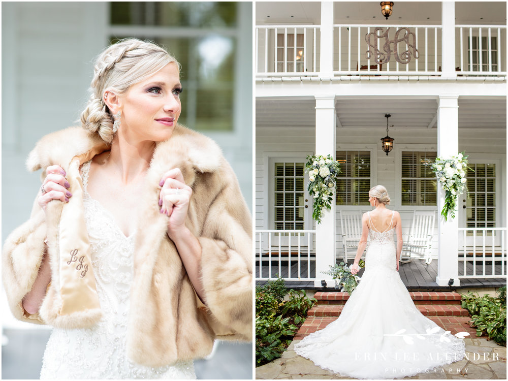 Bride-wears-grandmother's-coat